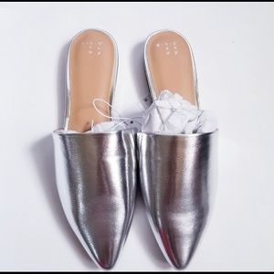 Shoes - New Silver mule only 2 sizes